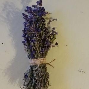Dried lavender bundle.